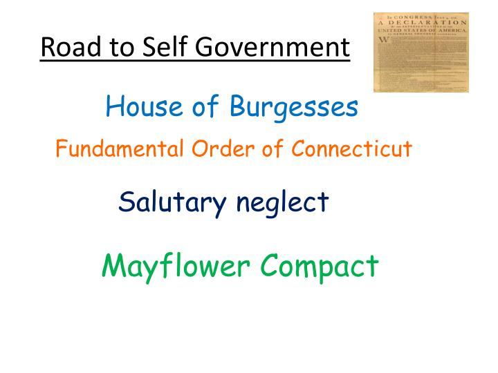 Road to Self Government