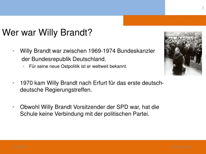 Wer war Willy Brandt?