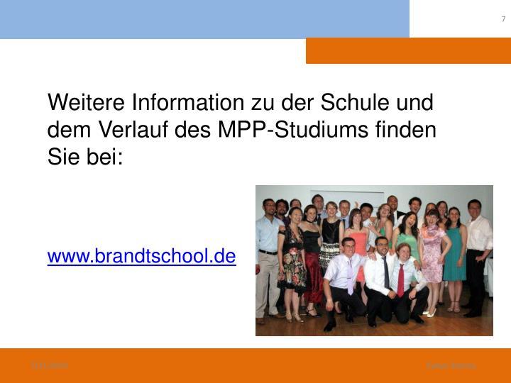 Weitere Information zu der Schule