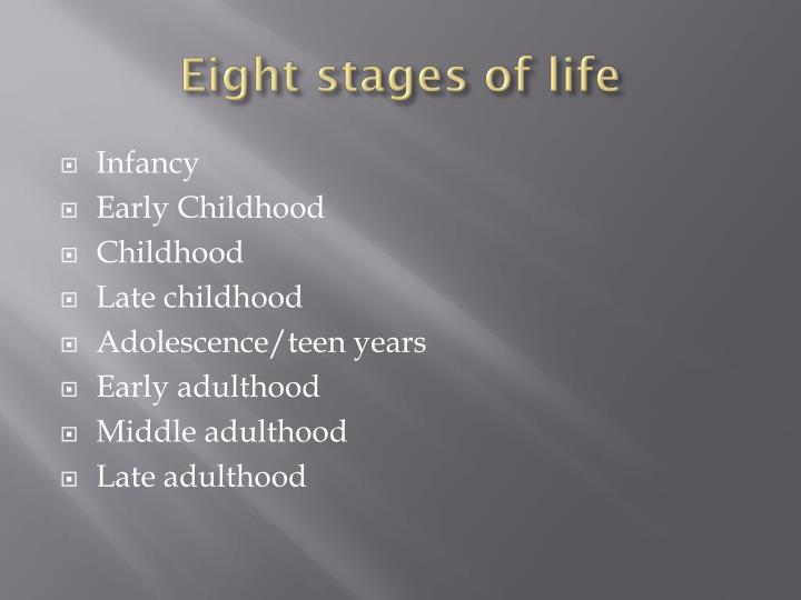 late adult stage of life Stages of development – life passages popularized stage model of adult life development late late adulthood (80+.