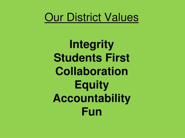 Our District Values