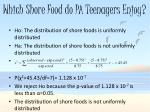 which shore food do pa teenagers enjoy1
