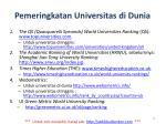 pemeringkatan universitas di dunia