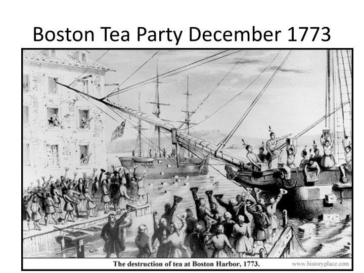 Boston Tea Party December 1773