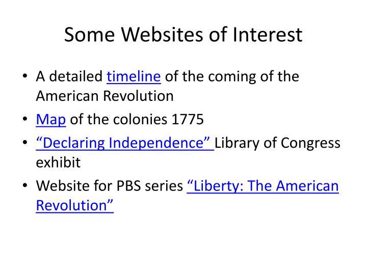 Some websites of interest