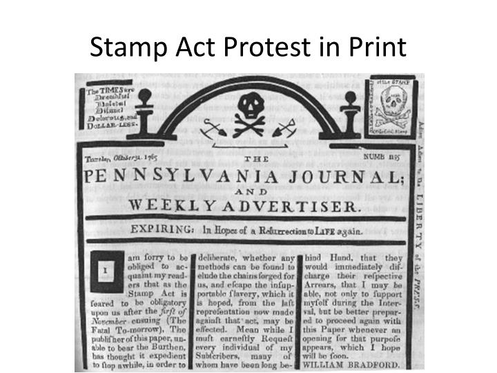 Stamp Act Protest in Print