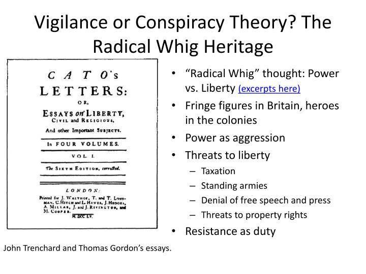 Vigilance or Conspiracy Theory? The Radical Whig Heritage