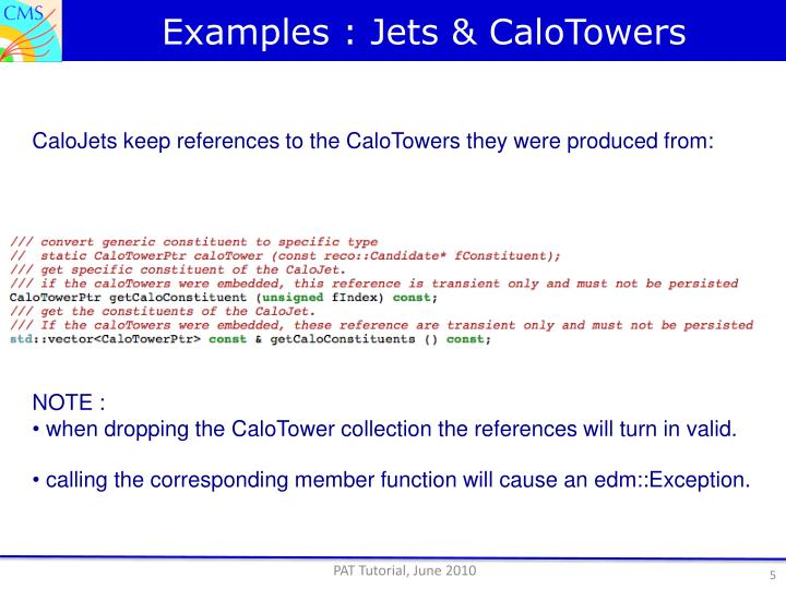Examples : Jets &