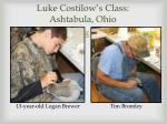 luke costilow s class ashtabula ohio