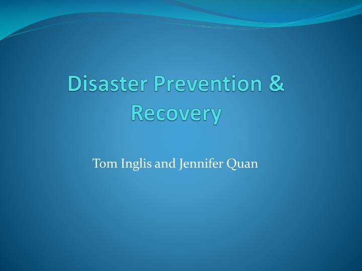 disaster prevention recovery