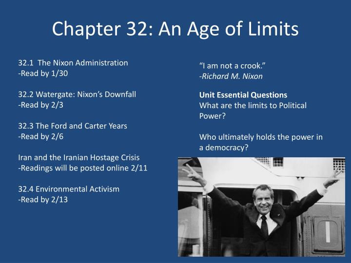 Chapter 32 an age of limits
