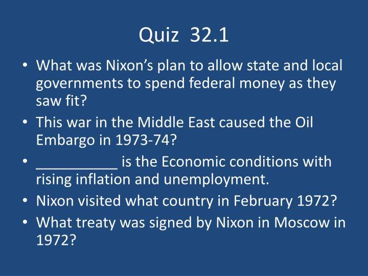 Quiz  32.1