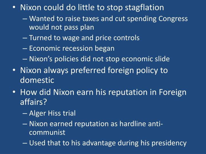 Nixon could do little to stop stagflation