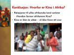 konklusjon hvorfor er kina i afrika