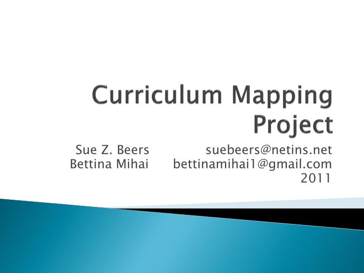 curriculum mapping project n.