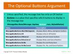 the optional buttons argument