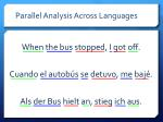 parallel analysis across languages1