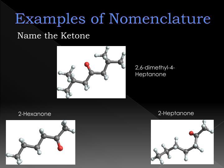 Examples of Nomenclature