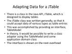 adapting data for a jtable