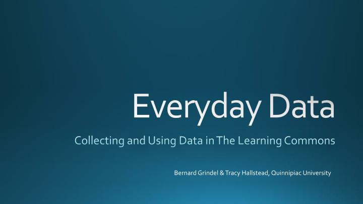 collecting and using data in the learning commons n.