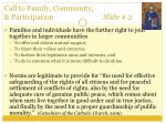 call to family community participation slide 2