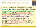 what is catholic social teaching