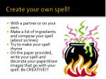 create your own spell