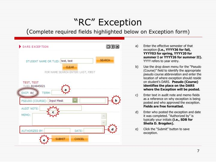 """""""RC"""" Exception"""