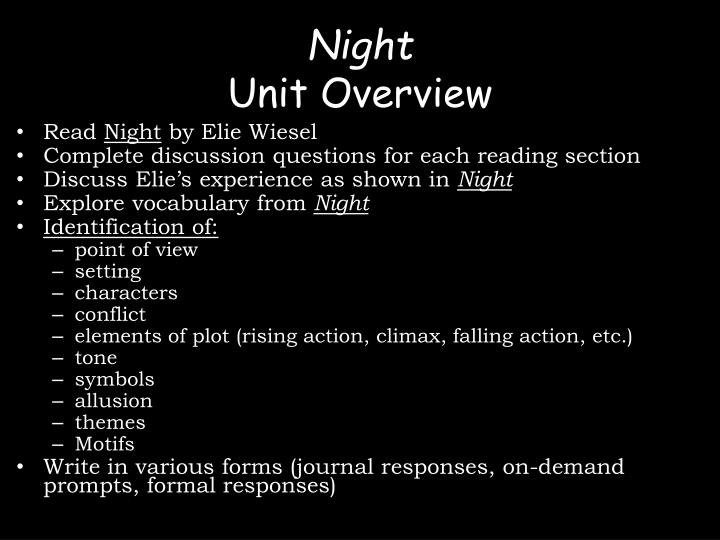 night elie wiesel literary devices