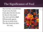 the significance of fool10