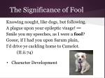 the significance of fool22