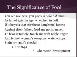 the significance of fool24