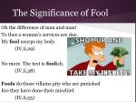the significance of fool36