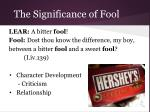 the significance of fool9