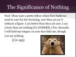 the significance of nothing10