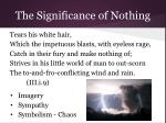 the significance of nothing17