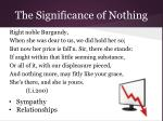 the significance of nothing2