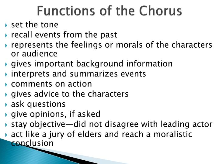 Functions of the Chorus
