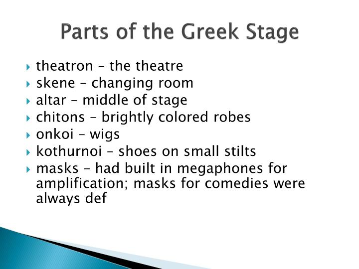 Parts of the Greek Stage