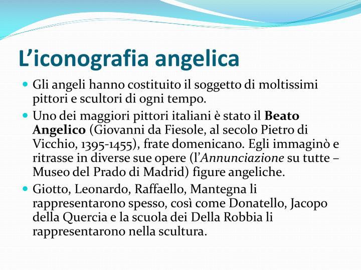 L'iconografia angelica
