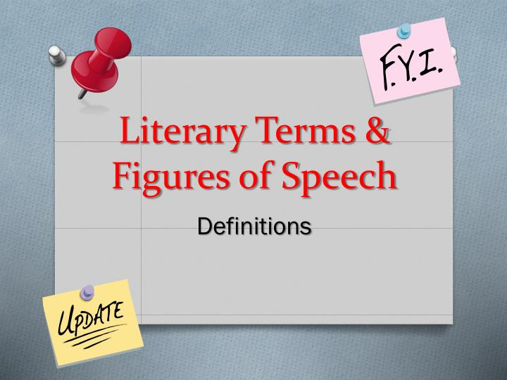Ppt Literary Terms Amp Figures Of Speech Powerpoint Presentation