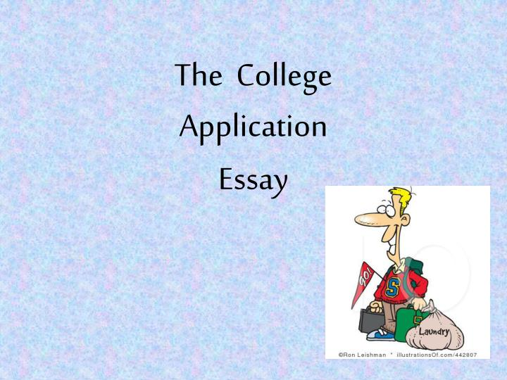 the college application essay n.