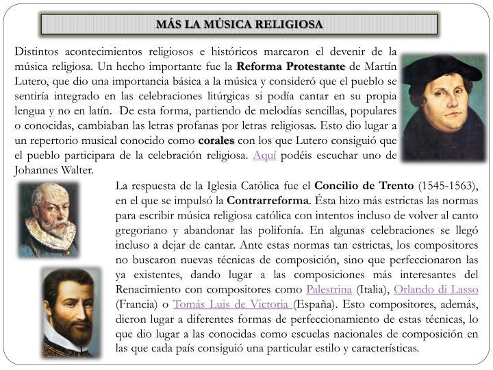 MÁS LA MÚSICA RELIGIOSA