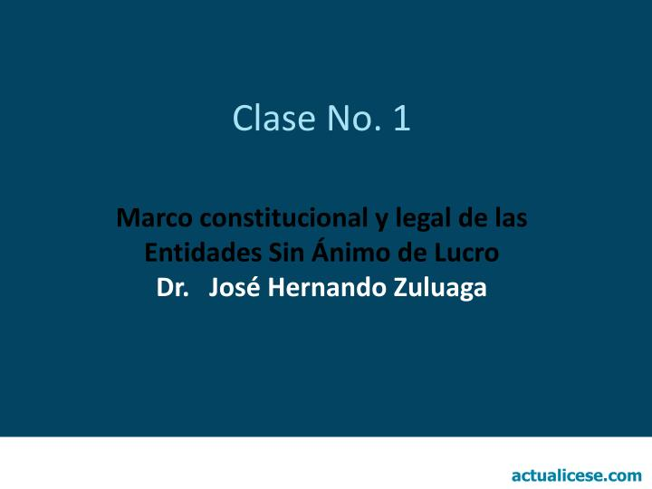 Clase no 1