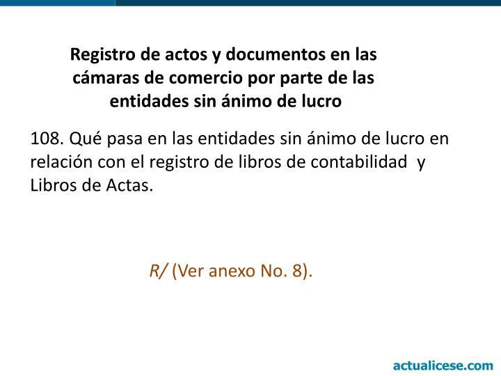 Registro de actos y documentos en las