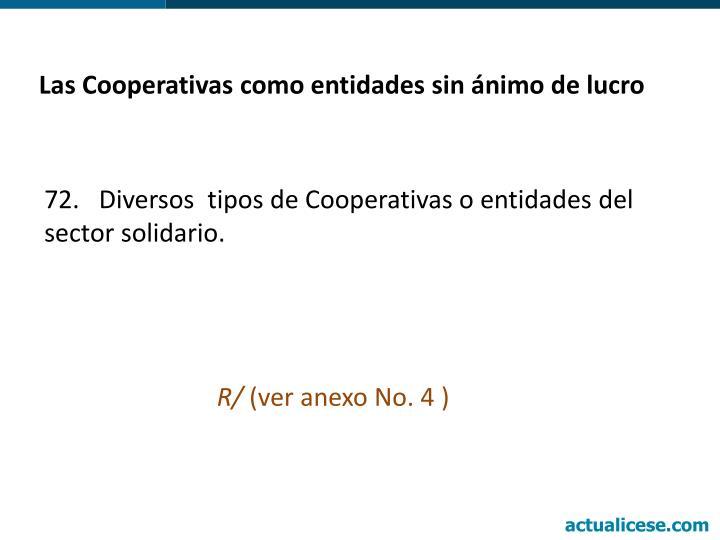 Las Cooperativas como entidades sin ánimo de lucro