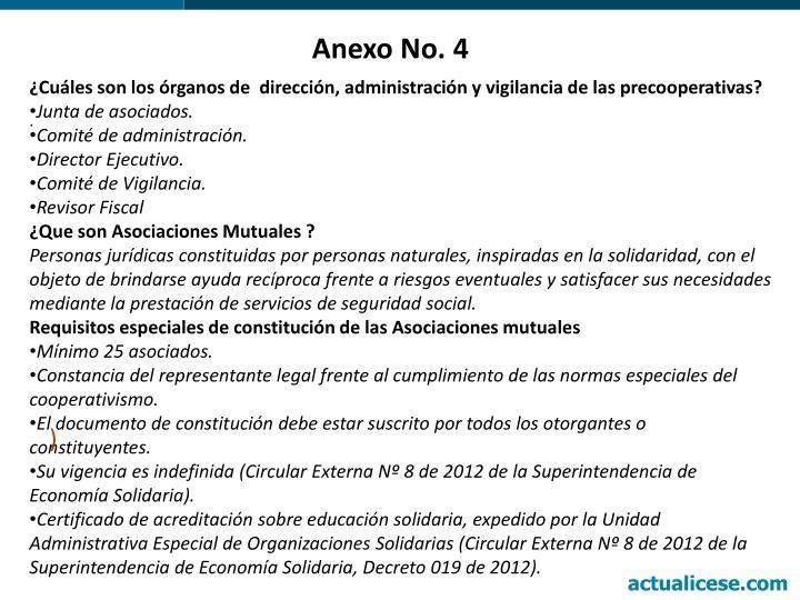 Anexo No. 4