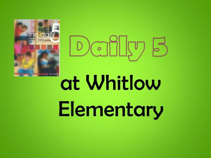At whitlow elementary