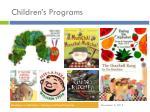children s programs