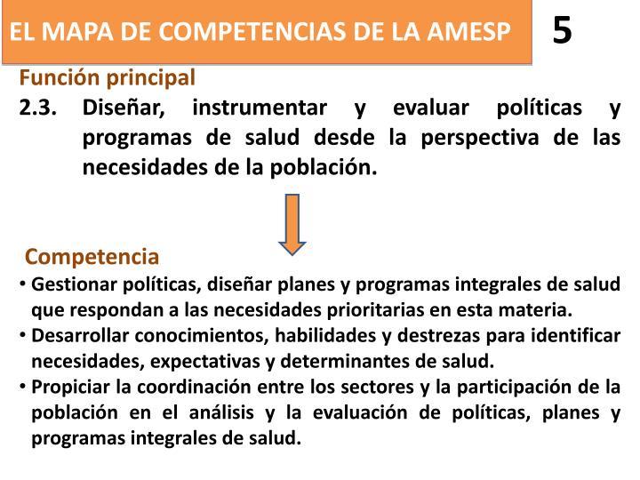 EL MAPA DE COMPETENCIAS DE LA AMESP